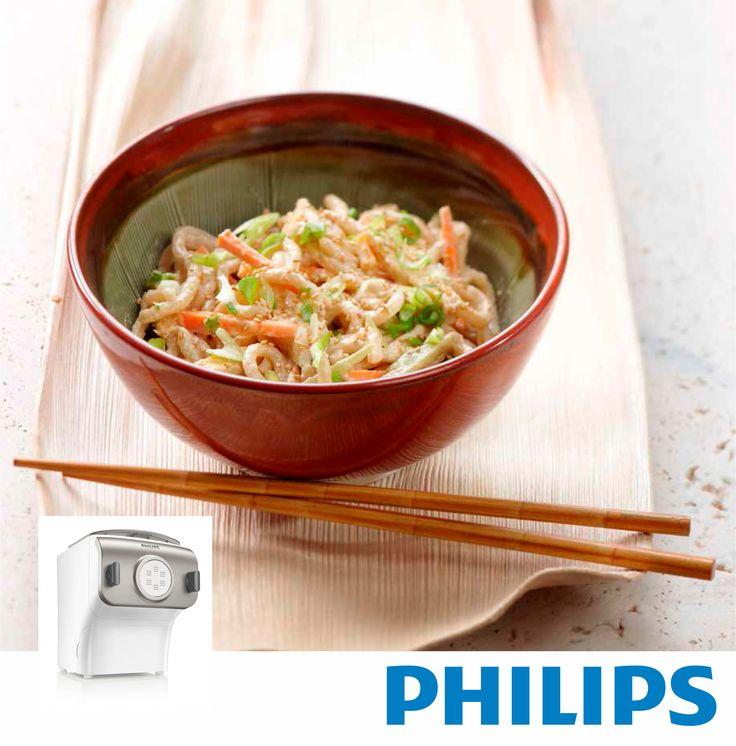 #Philips #HR2355, Maquina para hacer #pasta y #fideos. #comidacasera #pastacasera #RECETA #Fideos fríos con aderezo de sésamo