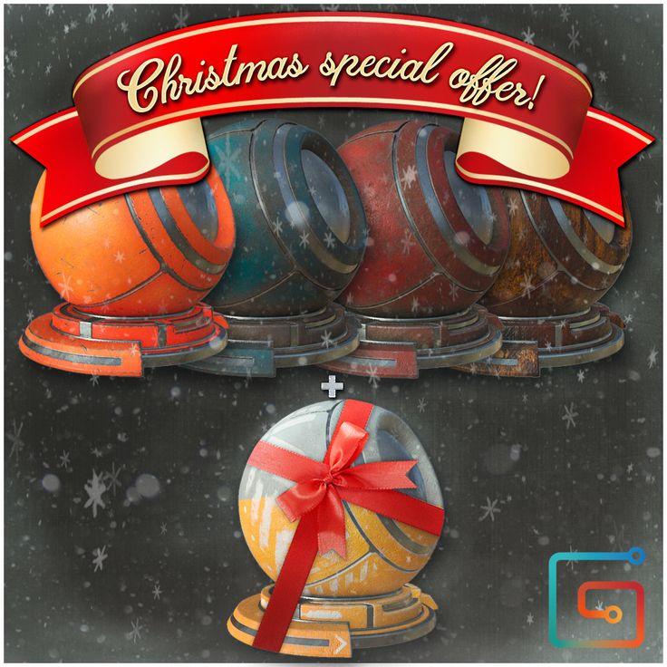 "Material Bundle - Christmas special offer!!, Alfredo ""Fredo"" Gutierrez on ArtStation at https://www.artstation.com/artwork/odRXk"