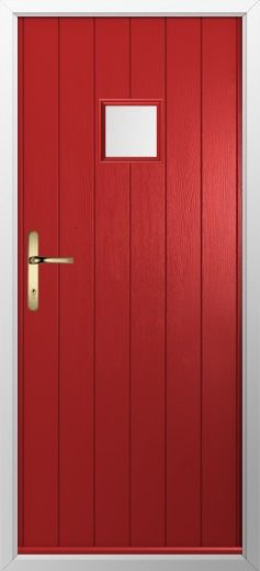 composite door example of small square in red high quality secure and in