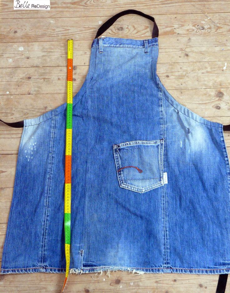 Redesign of G-star jeans into kitchen apron