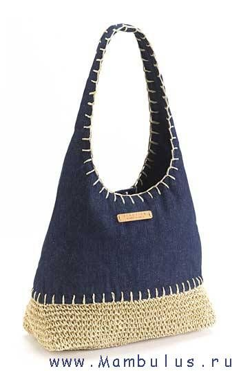 I think I will reverse this idea... Bag with denim bottom and crocheted top!