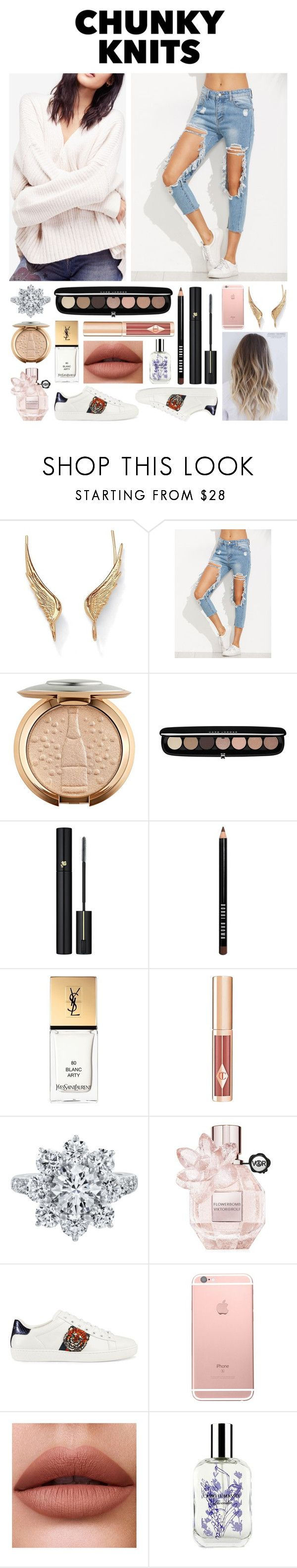 """#CHUNKYKNITS"" by princesskimdoan ❤ liked on Polyvore featuring Palm Beach Jewelry, Marc Jacobs, Lancôme, Bobbi Brown Cosmetics, Yves Saint Laurent, Harry Winston, Viktor & Rolf, Gucci and Caswell-Massey"