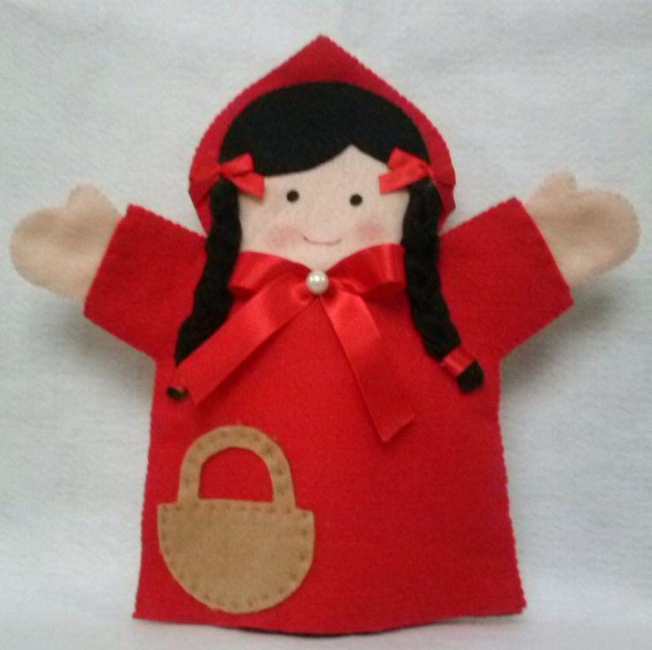 Fantoches 4 peças Chapeuzinho vermelho