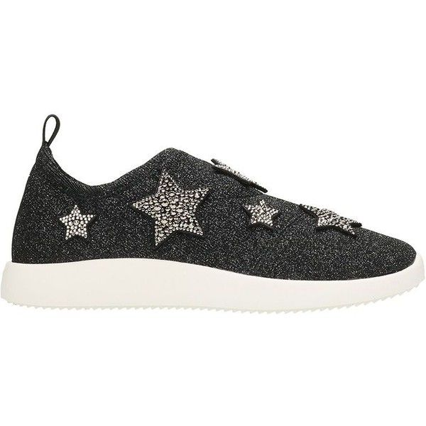 Alana Star Grey Fabric Slip on Sneaker With Stars ($660) ❤ liked on Polyvore featuring shoes, sneakers, grey, slip-on sneakers, star sneakers, giuseppe zanotti trainers, star shoes and giuseppe zanotti shoes