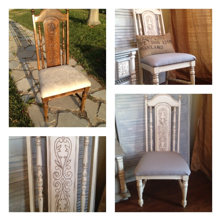 Outdated Dining Chair Revamped With A Distressed Antique