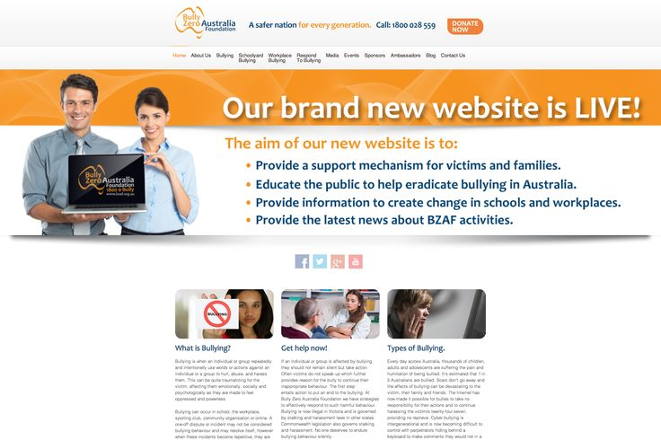 icu2 is proud to support the Bully Zero Australia Foundation! We donated this website to the foundation to serve as a valuable source of information for bullying victims and their family's.