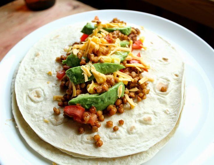 Oppskrift Rask Linsetaco Taco Burrito Med Linser Enkel Billig Vegetartaco