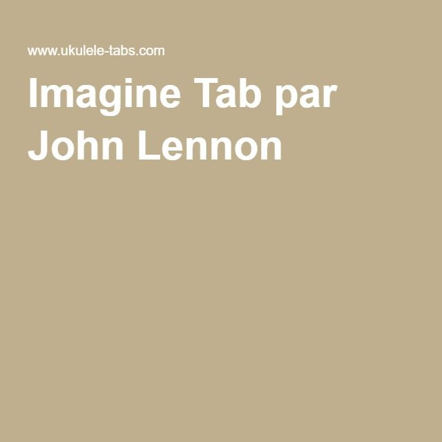 Imagine Tab par John Lennon