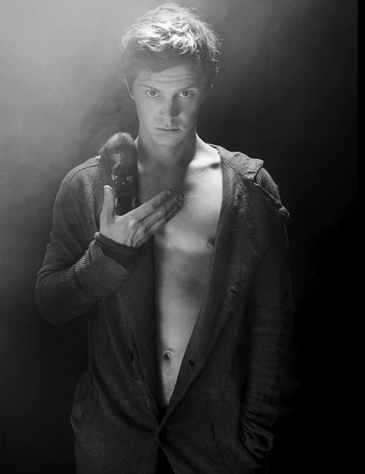 Pin for Later: 26 Times You Couldn't Help but Surrender to Evan Peters's Hotness When He Distracted You From the Mouse on His Shoulder With That Body