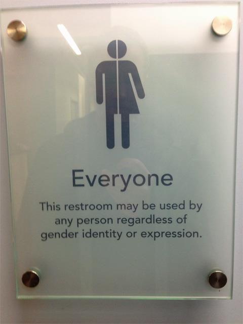 134 best transgender pride images on pinterest for Unisex bathroom ideas