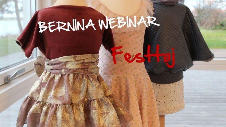 BERNINA Webinar:  Festtøj - detaljer syet på overlock og symaskine