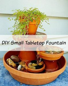 This series features great tutorials that I've found that I think you would find useful! This weeks featured project is a DIY Small Tabletop Fountain