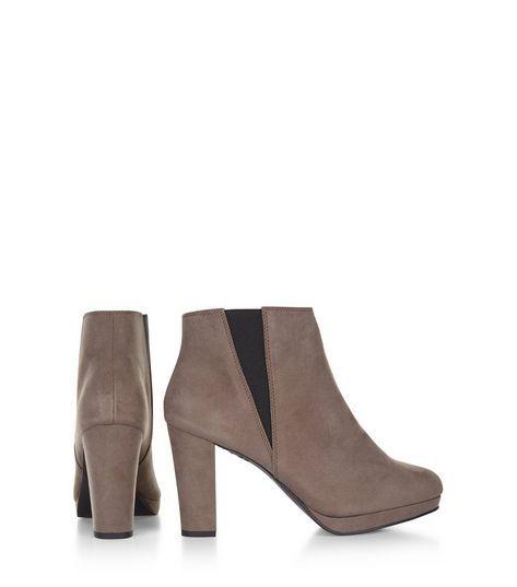 Grey Suedette Platform Cheslea Boots | New Look