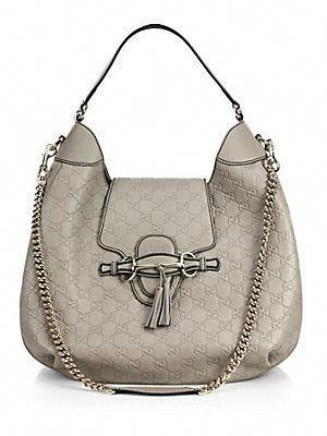 f6ec5f3748e Gucci Emily Guccissima Leather Hobo Bag.. Next on my list!  Guccihandbags   leatherhobobags  greyleatherpurse