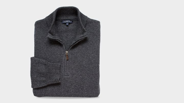 The Grey Heather Ashton Half Zip