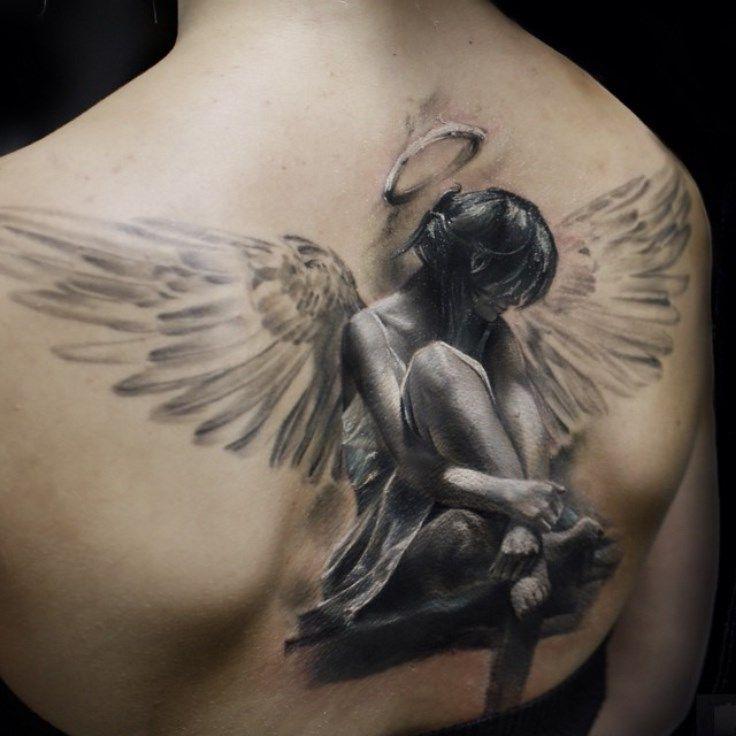 Can Pornstar angel wings tatoo