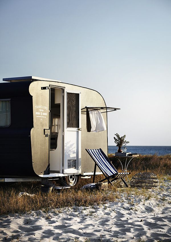 Right on the beach. Love it. Wouldn't I be a happy camper!