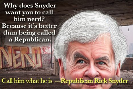 Governor Rick Snyder has determined how much he's willing to pay you for your vote: $75. | Eclectablog