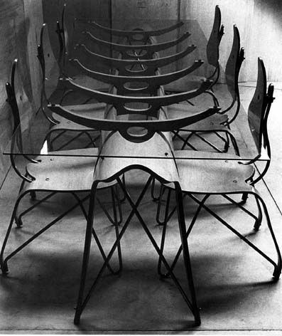 Furniture designs by Carlo Mollino (also a photographer), 1940s