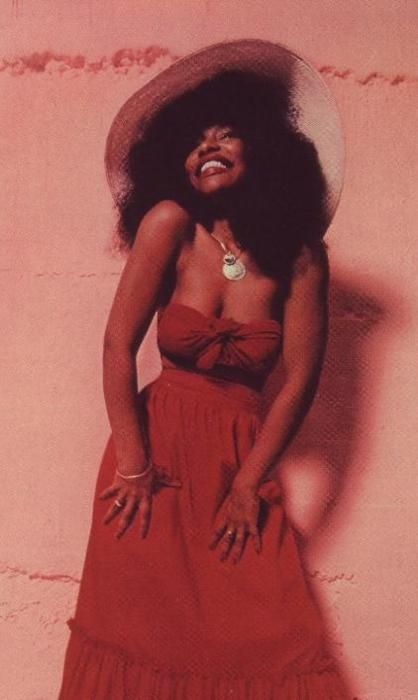 Love this pic of Chaka Khan ...great dress, great figure.
