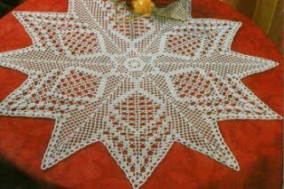 Hobby lavori femminili - ricamo - uncinetto - maglia: stella di natale uncinetto