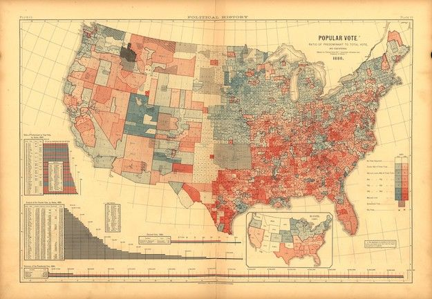 The 19th Century Map That Shows the U.S.'s Politicial Polarization | New Republic