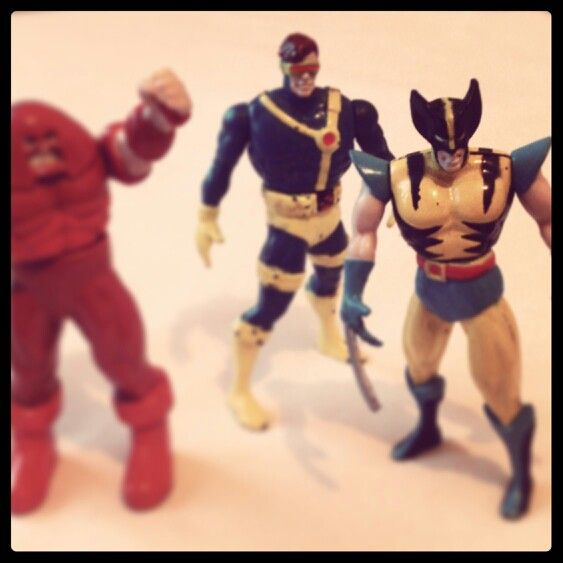 X-men toys- Cyclops, Wolverine, Juggernaut