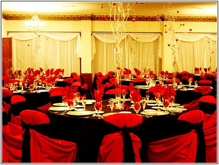 161 best wedding decorations images on pinterest wedding decor wedding reception decoration ideas red and black junglespirit Gallery