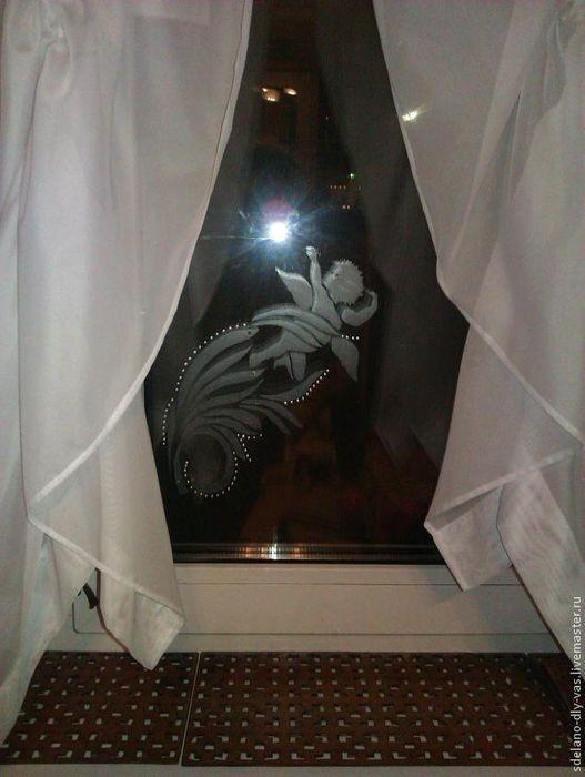 Матовое стекло своими руками (имитация)