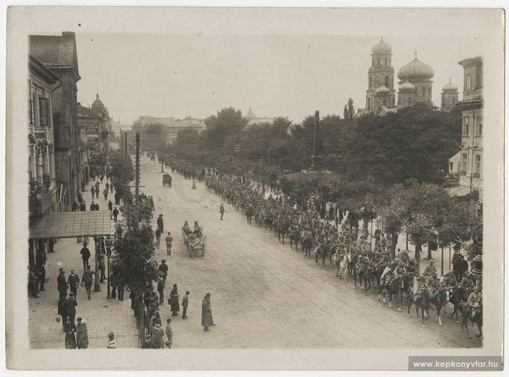 ok 1914 Przejście wojsk austriackich przez Krakowskie Przedmieście