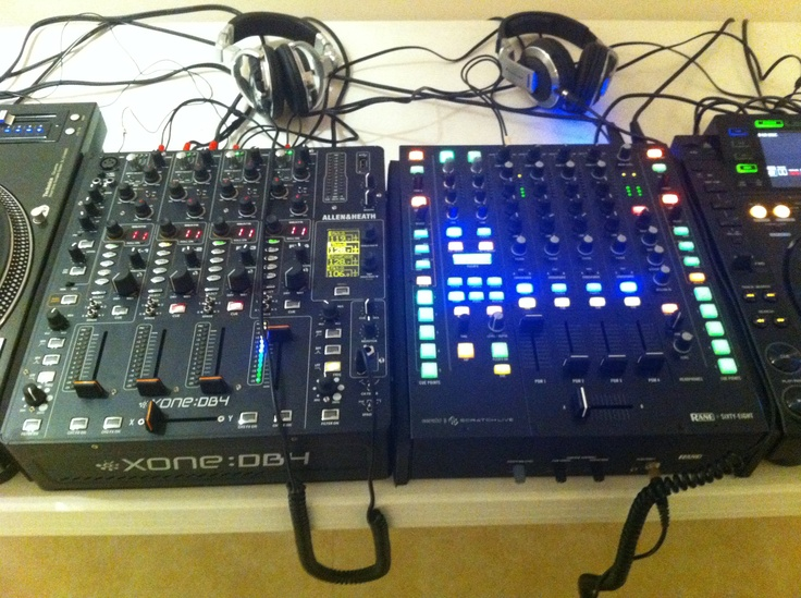 The best DJ mixers available today: Allen and Heath Xone DB4 and Rane…
