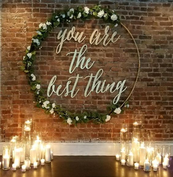 rustic indoor candle wedding backdrop / http://www.deerpearlflowers.com/wedding-backdrop-ideas-from-pinterest/