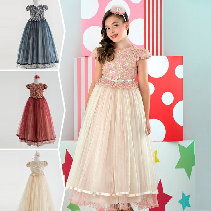 Prensesler için 4 farklı renkte! In 4 different colors for the princesses! ! В четырех разных цветах для принцессلألميرات مميزة ألوان 4 أربعة #tasarım #elbise #dress #tasarım #girl #kidsfashion #kidsstyle #stylish