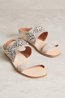Jeffrey Campbell Dola Sandals Light Grey 8.5 Sandals #anthrofave