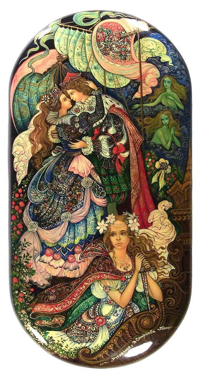 Little Mermaid (2011) from Palekh by Vera Smirnova