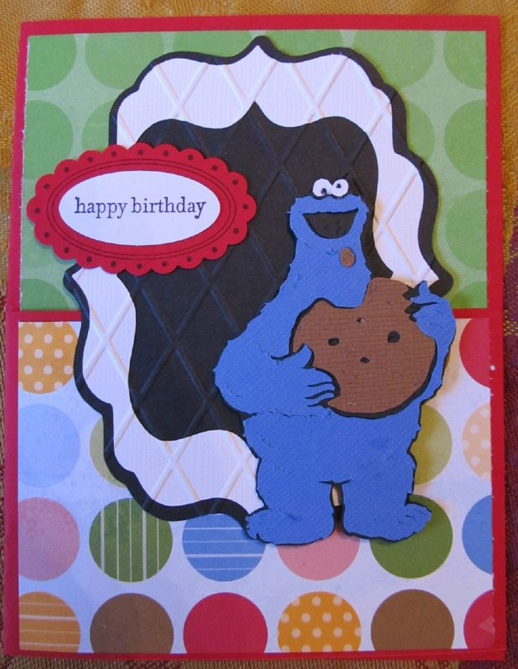 Sesame Street Cricut Birthday Cards - These Sesame Street Cards featuring Elmo, Cookie Monster, and Big Bird are perfect for Preschool Birthdays