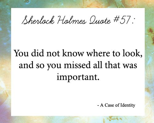 Sherlock Holmes quotes for decor