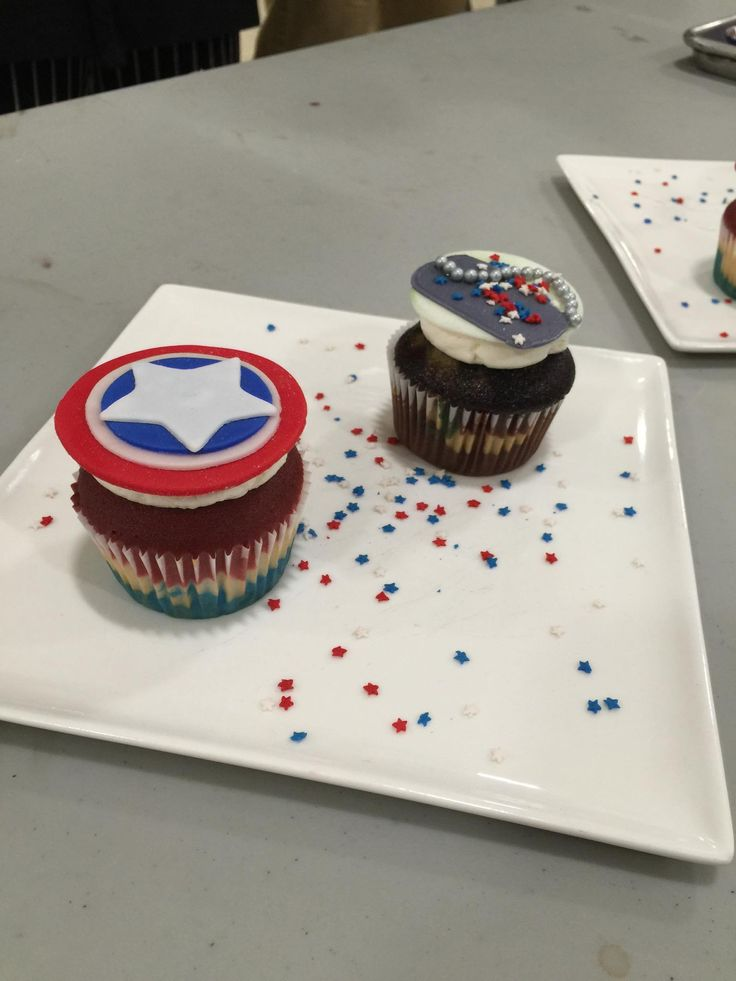 Veterans Themed Cupcakes!