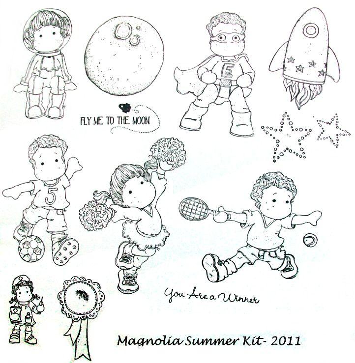 Free Magnolia Stamp   Magnolia Tilda Summer Stamp Kit 2011