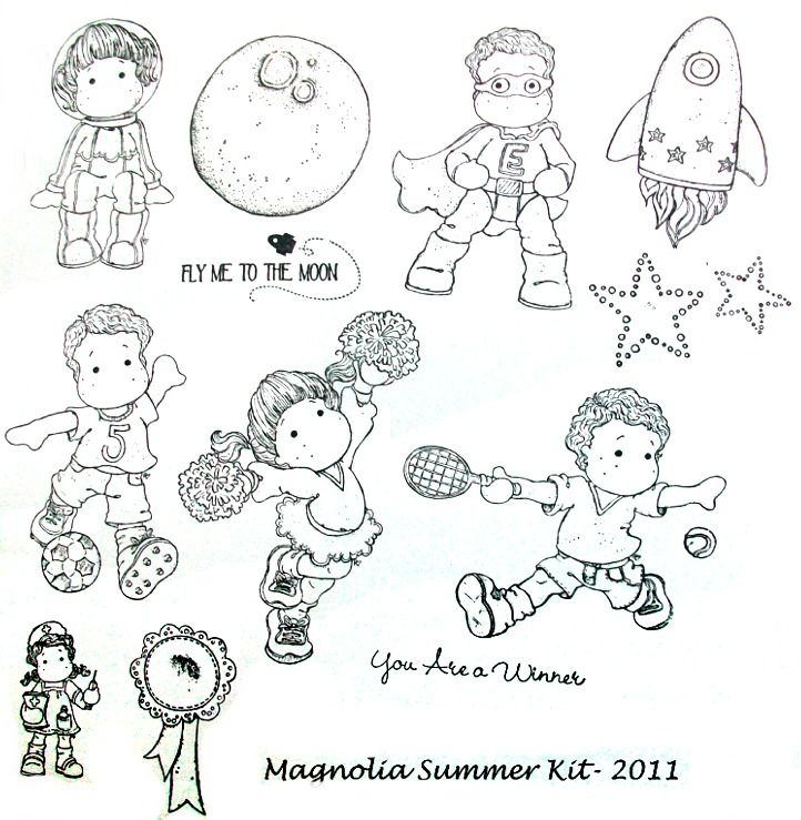 Free Magnolia Stamp | Magnolia Tilda Summer Stamp Kit 2011