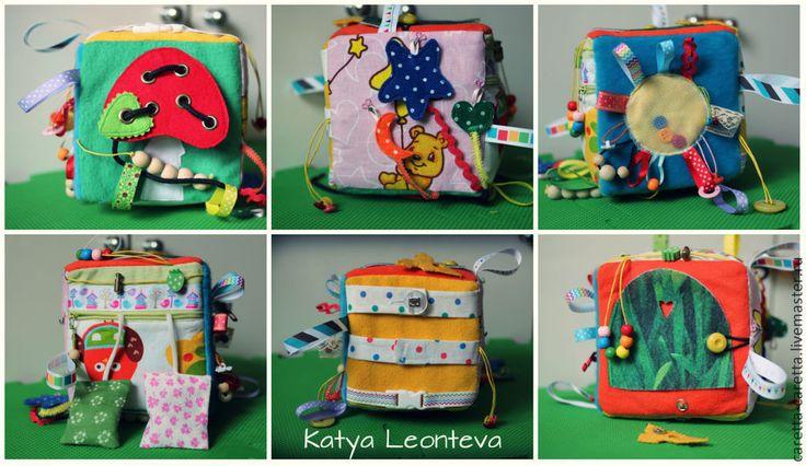 Купить Развивающий кубик с застежками - разноцветный, кубики, кубик, куб, развивающая игрушка, развивайка, развивашка