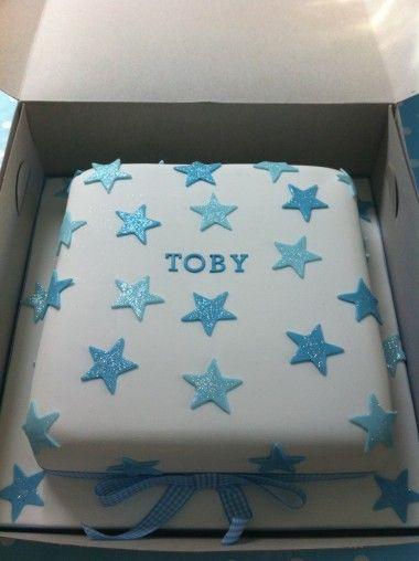 *** Cake - Simple Stars & gingham ribbon