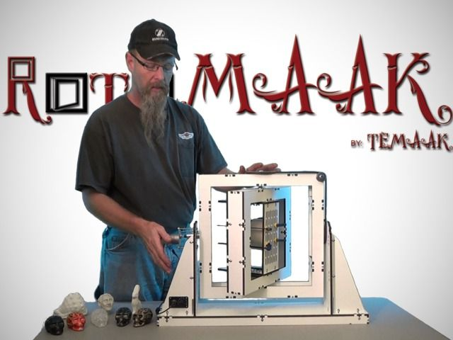 RotoMAAK: Desktop Rotational Casting Machine.  DIY Rotational casting machine to bridge the gap between rapid prototyping and the cost of producing thousands of hollow cast parts. @Jacob Ridley