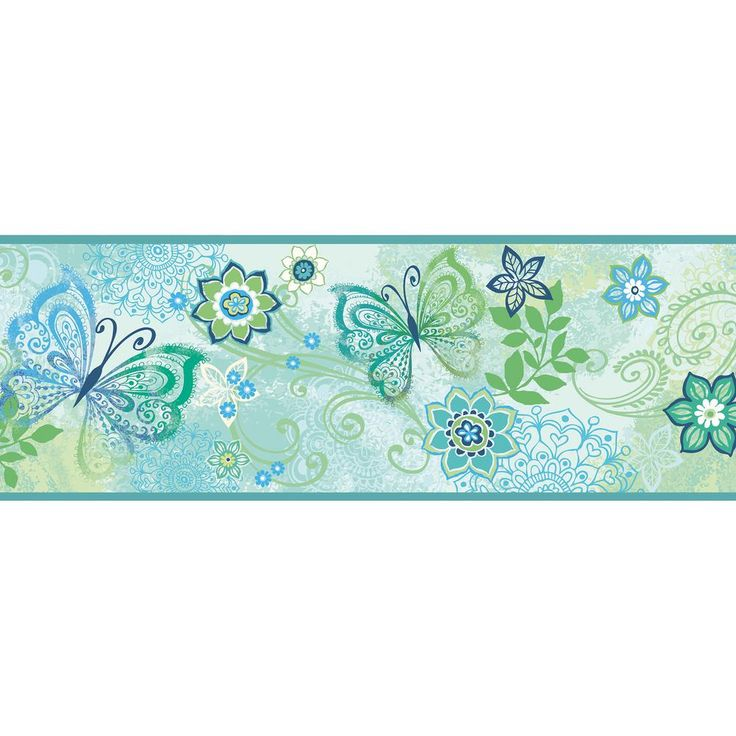 Chesapeake Fantasia Boho Butterflies Scroll Wallpaper
