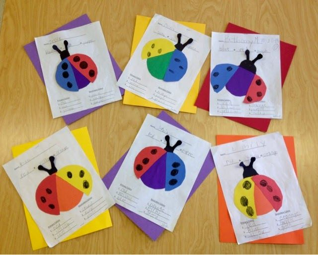 1st Grade Color Bugs-the primary color wings create the secondary color-Art with Mr. Giannetto blog