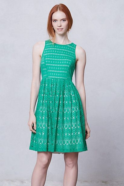 Think Spring!!!    Sunstream Eyelet Dress #anthropologie