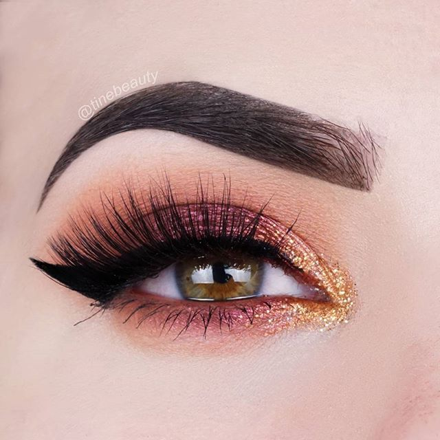 Made this fall-look using the @morphebrushes 35F Palette  Products used:  EYES @morphebrushes 35F Palette @espionage_cosmetics Everything Shadow in Boom!(gold glitter) @sigmabeauty Line Ace in Legend @makeupbyan @annytude Lashes in Wary  BROWS @anastasiabeverlyhills Brow Pomade in Dark Brown  This is also my entry for the @inglotbenelux contest #spiceitupwithinglot