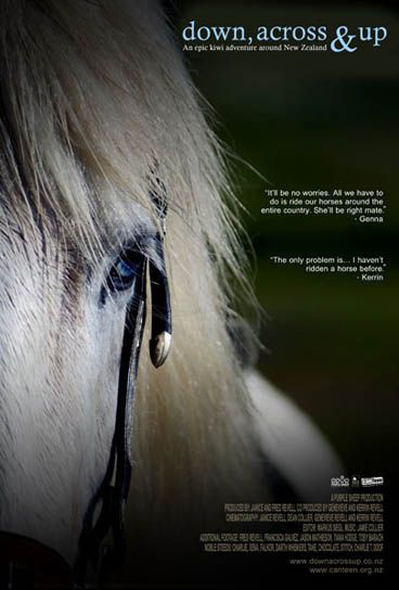 Down, Across & Up Poster featuring Falkor the horse.