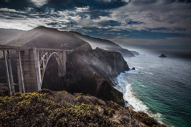 While most of Big Sur is still closed due to heavy storms this winter that took out Pheiffer Cyn Bridge in the North and washed out the road at Ragged Point in the South.  This area where the famous Bixby Bridge is located is still open.  #californiaholics #bigsur #landscapephotography #beautifuldestinations #sawdust #joshkingimages #montereylocals - posted by Joshua King https://www.instagram.com/joshkingimages. See more of Big Sur at http://bigsurlocals.com