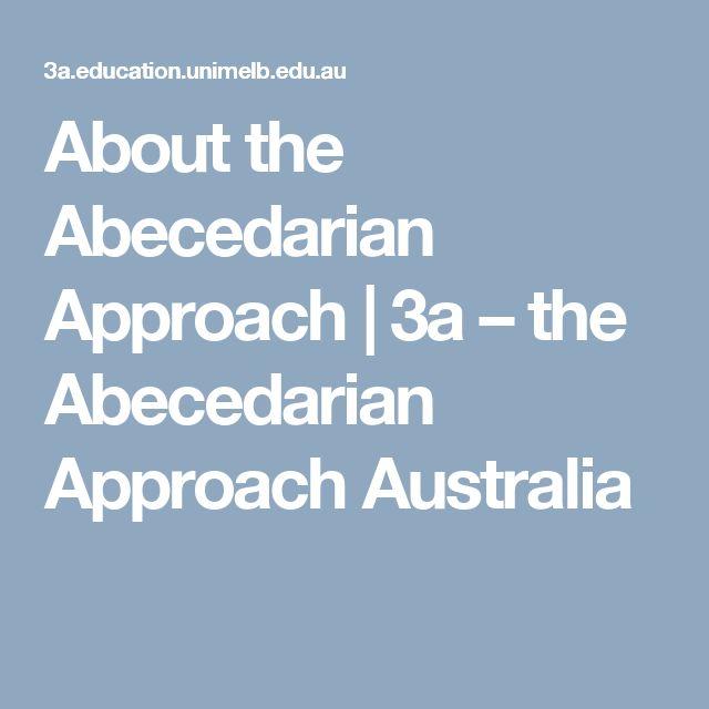 About the Abecedarian Approach | 3a – the Abecedarian Approach Australia